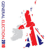 General election british white — Stock Vector