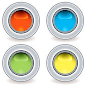Gel plastic icon small — Stock Vector
