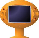 Zukünftige fernsehen — Stockvektor