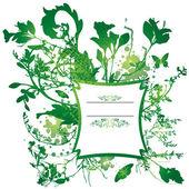 Floral spray banner — Stock Vector