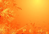 Floral laranja madura — Vetor de Stock