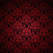 Floral gothic red — Stock Vector