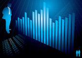 Financial figures graph — Stock Vector