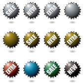 Explode buttons — Stock Vector