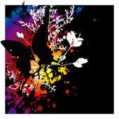 Evil butterfly — Stock Vector