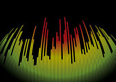 Digit music hot — Stock Vector