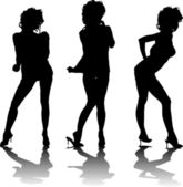 Cutie dancing shadow — Stock Vector