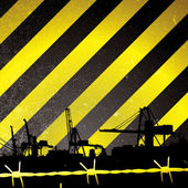 Crane stripe — Stock Vector