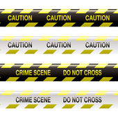 Crime scene tape — Stock Vector