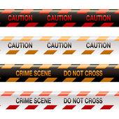 Crime scene tape modern — Stock Vector