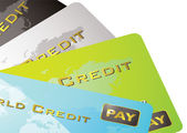 Credit card fan — Stock Vector