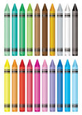 Crayon selection — Stock Vector