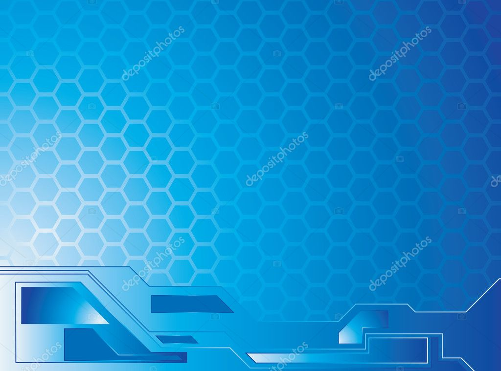 An abstract background image with blue hexagon shapes — Stock Vector #3422832
