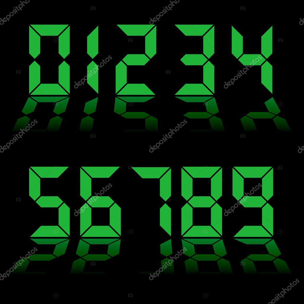 Reloj de números digitales — Vector de stock © Nicemonkey #3428003