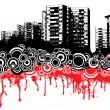 City dribble - Imagen vectorial