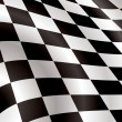 Checkered flag bellow - Stock Vector