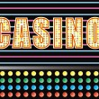 Casino lights — Stock Vector