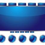 Blue interface — Stock Vector