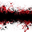 Blood strip top black — Stock Vector