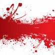 Blood strip banner — Stock Vector
