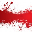 Blood strip banner - Stock Vector