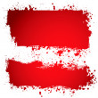 Blood red ink banner — Stock Vector
