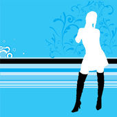 Lady cool — Vector de stock
