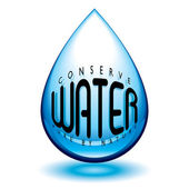 Conserve water — Stock Vector