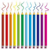 Pastelové tužky — Stock vektor