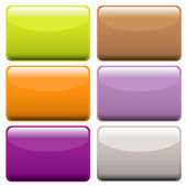 Colorful oblong web buttons — Stock Vector