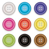 Clothes buttons icons — Stock Vector
