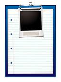 Clip board photo — Stock Vector