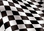 Checkered flag bellow — Stock Vector