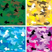 Camouflage tile — Stock Vector