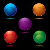 Button glow multi — Stock Vector