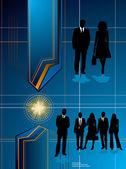 Business future blue — Stock Vector