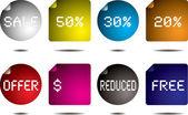 Button flap — Stock Vector