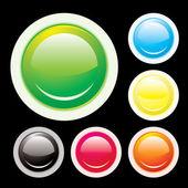 Button lip — Stock Vector