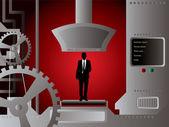 Businessman production — Stock Vector