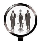 Business men rifle target — Stock Vector