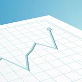 Business graph arrow — Stock Vector