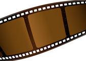 Bruin filmstrip — Stockvector