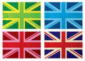 British grunge flags — Stock Vector