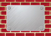 Placa de metal brickwall — Vetor de Stock