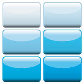 Blue web buttons — Stock Vector