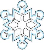 Floco de neve — Vetor de Stock