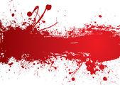 Blood strip banner — Stock Vector