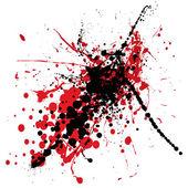 Splat sangue com preto — Vetor de Stock