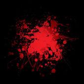 Blood splat red — Stock Vector