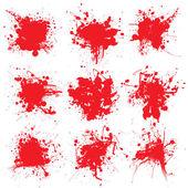 Bloed splat verzamelen — Stockvector